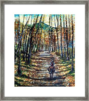 Fall Ride Framed Print by Shana Rowe Jackson