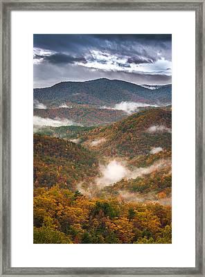 Fall Ridges Framed Print