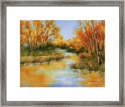 Fall River Framed Print by Summer Celeste