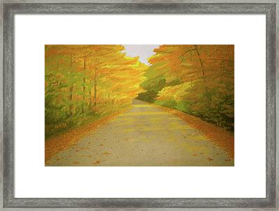 Fall Road Granby Framed Print by Bruce Richardson