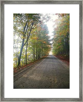 Fall Road Framed Print