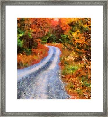 Fall Road To Paradise Framed Print by Dan Sproul