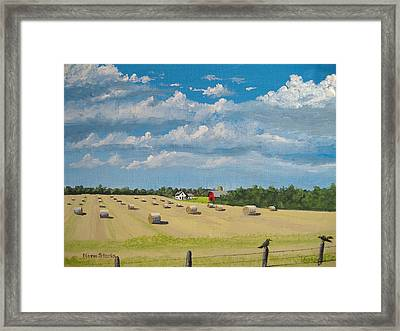 Fall Rounds Framed Print by Norm Starks