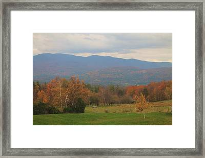 Fall Scene  Framed Print