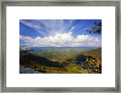 Fall Scene From North Fork Mountain Framed Print by Dan Friend