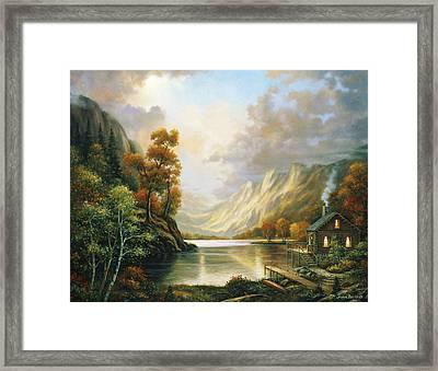 Fall Serene Framed Print by John Zaccheo