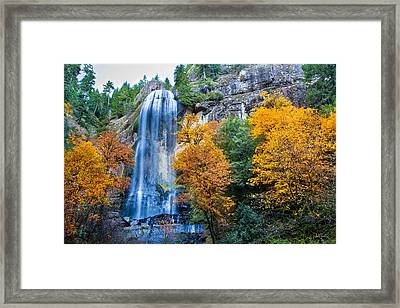 Fall Silver Falls Framed Print by Robert Bynum