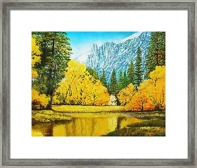 Fall Splendor In Yosemite Framed Print by Douglas Castleman