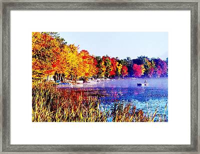 Framed Print featuring the photograph Fall Splendor Of Mid-michigan by Daniel Thompson