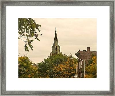 Fall Steeple Framed Print