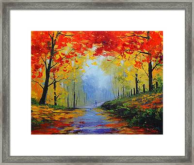 Fall Stroll Framed Print by Graham Gercken