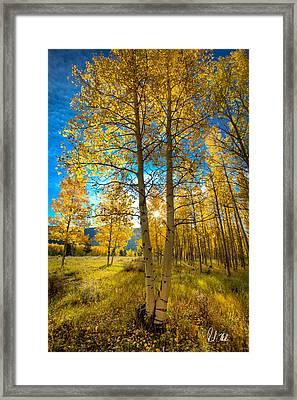 Fall Sunrise Framed Print by Rick Machle