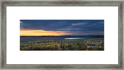 Fall Sunset In Wilderness Framed Print by Elena Elisseeva