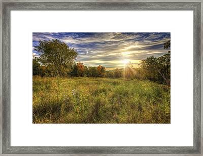 Fall Sunset Over Prairie - Retzer Nature Center - Waukesha Wisconsin Framed Print