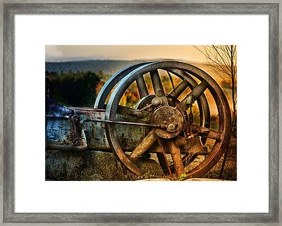 Fall Through The Wheels Framed Print