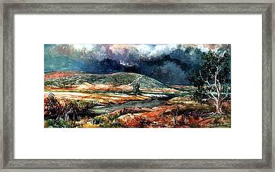 Fall Thunderstorm Approaching Framed Print