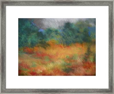 Fall Tonal Landscape Framed Print