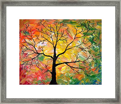 Fall Tree Framed Print by Cevin Cox
