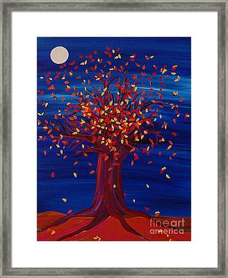 Fall Tree Fantasy By Jrr Framed Print