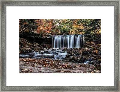 Framed Print featuring the photograph Fall Water by David Stine
