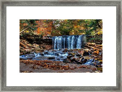 Framed Print featuring the photograph Fall Water Fantasy by David Stine