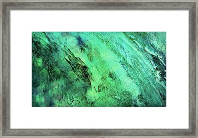 Framed Print featuring the mixed media Fallen by Ally  White