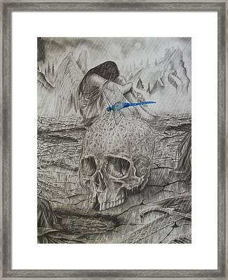 Fallen Framed Print by Amber Stanford