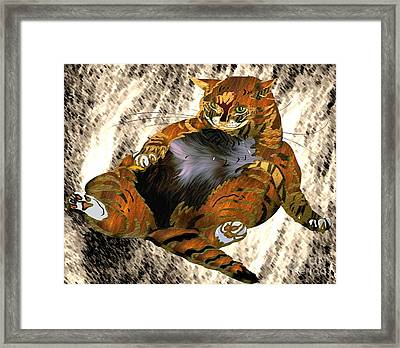 Fallen And Can't Get Up Framed Print