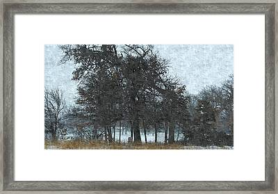 Fallen And Saved By Others Framed Print by Rosemarie E Seppala