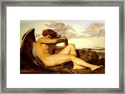 Fallen Angel  Framed Print by Alexandre Cabanel