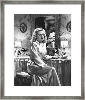 Fallen Angel, Anne Revere In Photograph Framed Print by Everett