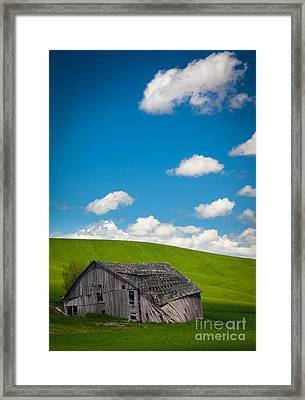 Fallen Barn Framed Print