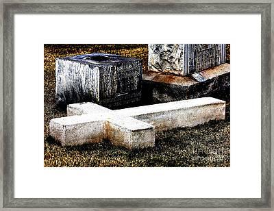 Fallen Cross Framed Print