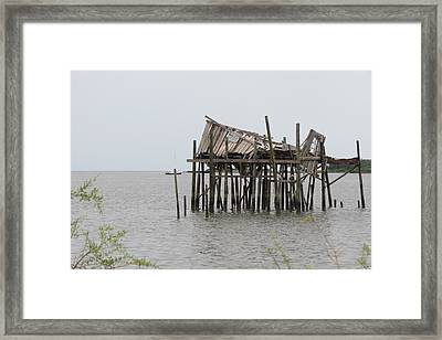 Fallen Deckhouse Framed Print by Fortunate Findings Shirley Dickerson