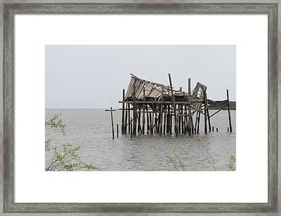Fallen Deckhouse Framed Print