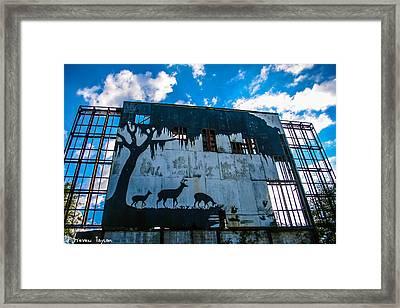 Fallen Drive In  Framed Print by Steven  Taylor