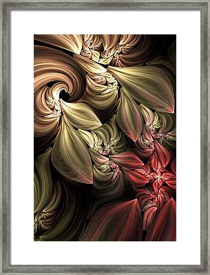Fallen From Grace Abstract Framed Print by Georgiana Romanovna
