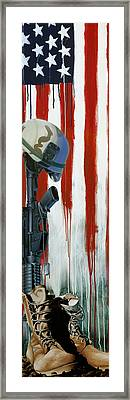 Fallen Hero Framed Print by Marlon Huynh