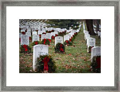 Fallen Heroes Honor And Remember Framed Print