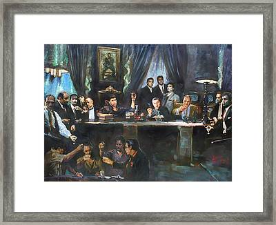 Fallen Last Supper Bad Guys Framed Print