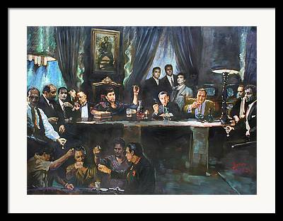 Al Pacino Paintings Framed Prints