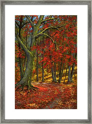 Fallen Leaves Framed Print by Frank Wilson
