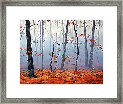 Fallen Leaves Framed Print by Graham Gercken