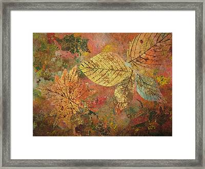 Fallen Leaves II Framed Print by Ellen Levinson