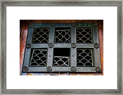 Fallen Panes Framed Print by Christi Kraft