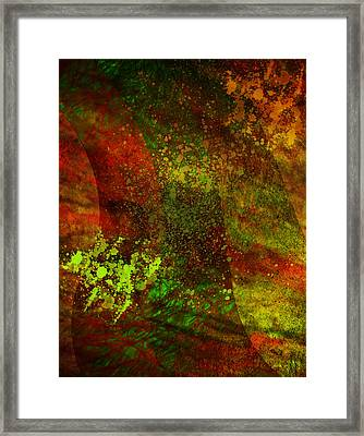 Framed Print featuring the mixed media Fallen Seasons by Ally  White