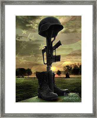 Fallen Soldiers Memorial Framed Print