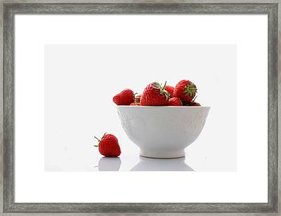 Fallen Strawberry Framed Print by Brendan Quinn