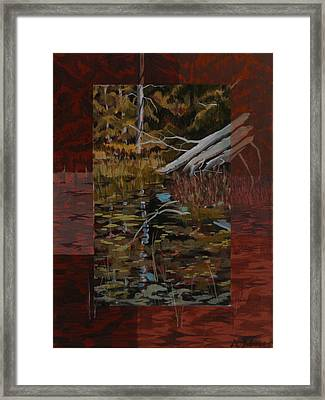 Fallen Trees At The Marsh Framed Print by David Gilmore