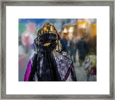 Framed Print featuring the photograph Fallera. Valencia. Spain by Juan Carlos Ferro Duque
